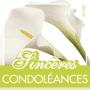 Étiquettes adhésives Sincères condoléances Lilette