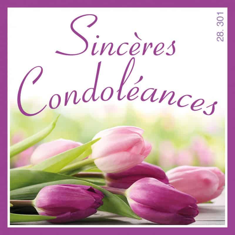 Étiquettes adhésives Sincères condoléances Liline - Matériel fleuriste
