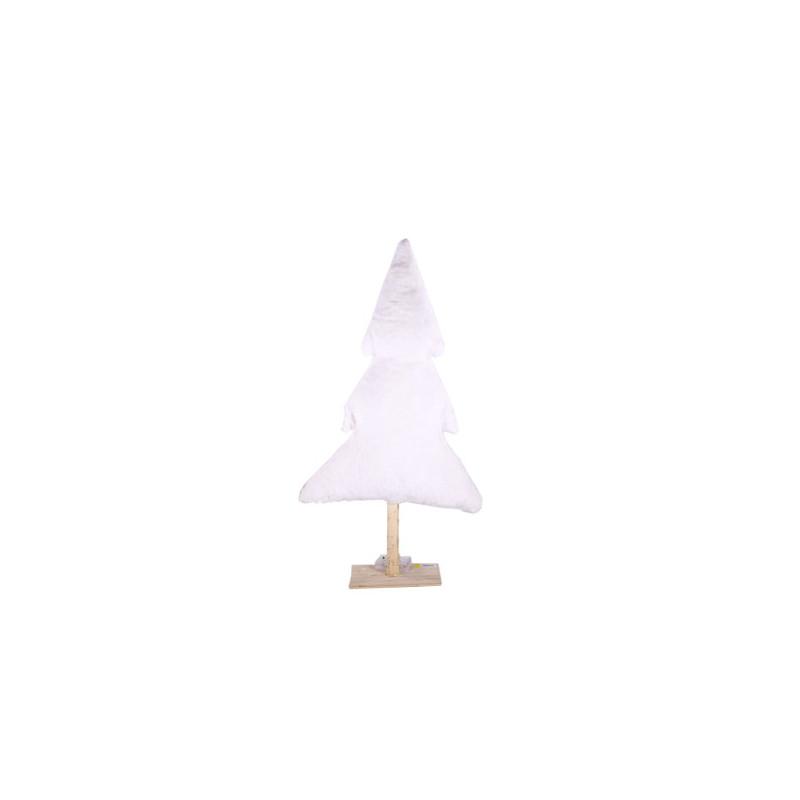 Sapin fourrure sur socle bois - arbre de nöel