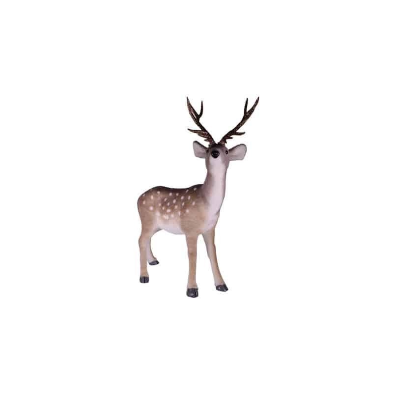 Daim avec bois Nouily - décoration animaux