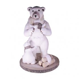 Famille ours sur rondin...