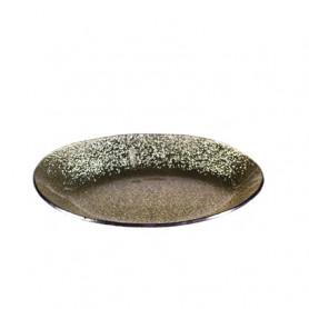 Assiette ovale dorée Dexler