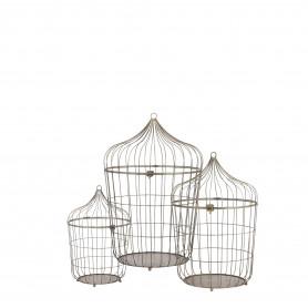 Set 3 cages à oiseaux...