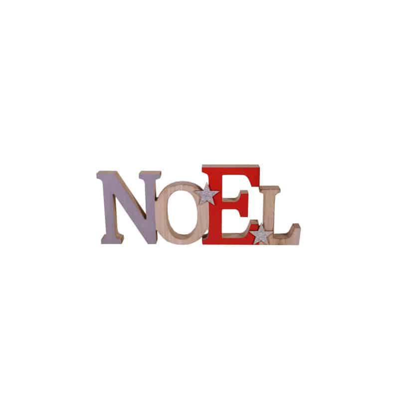 Lettre noël gris et rouge Armand - décoration magasin