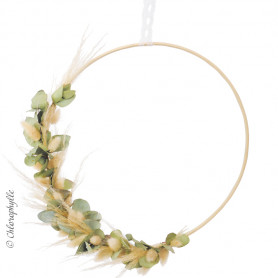 Cercle bambou  - accessoires fleuriste