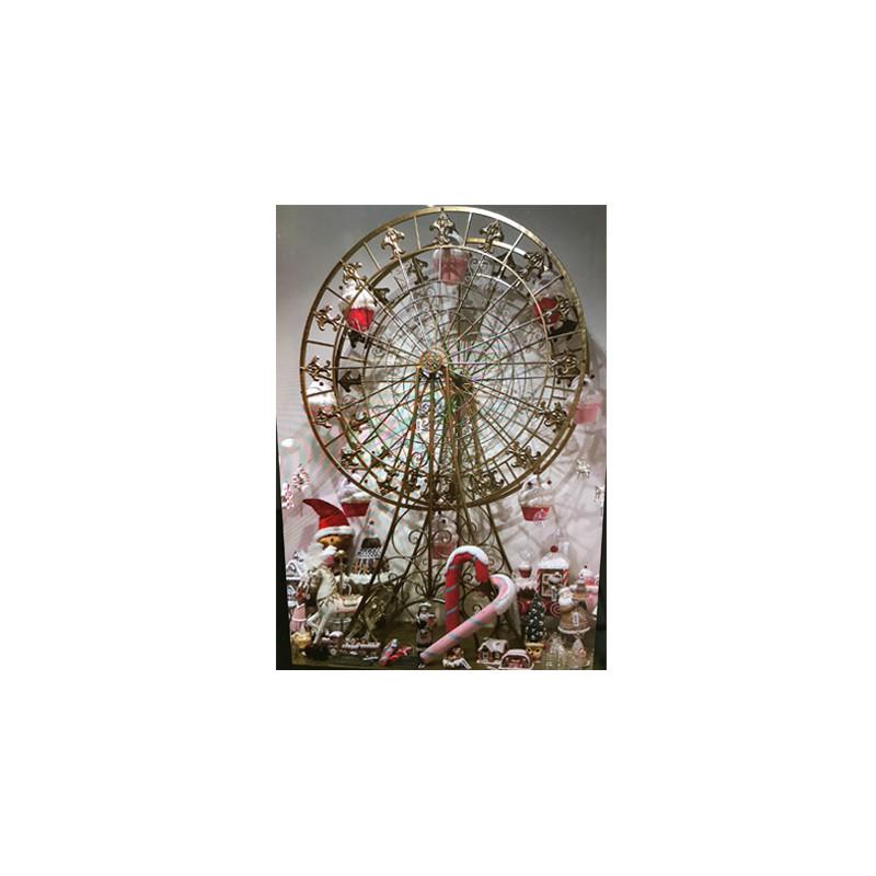 Grande roue Leban - décoration vitrine noël