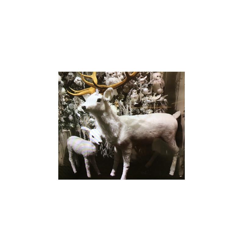 Renne fourrure Akona - décoration noël