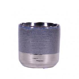 Pot cylindre base argent Megan - grossiste fleuriste