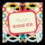 10 cartes de circonstance Bonne fête Nadette