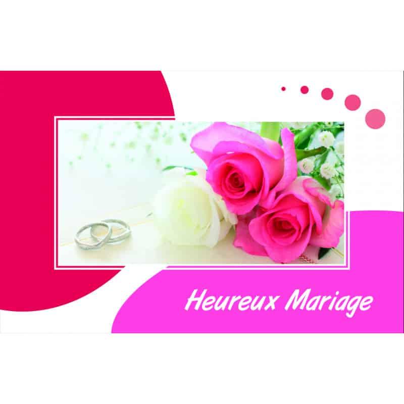 15 cartes de circonstance Heureux mariage - Grossiste pour fleuriste