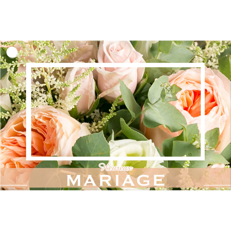 10 cartes de circonstance Heureux mariage - Grossiste pour fleuriste
