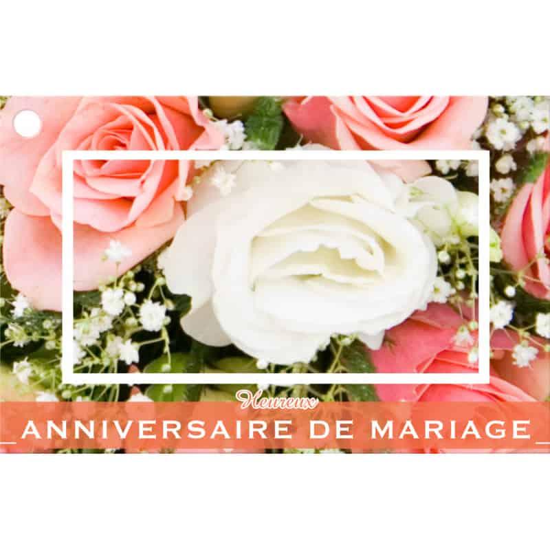 10 cartes de circonstance Heureux anniversaire de mariage - Grossiste déco