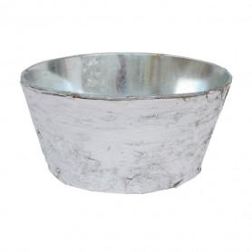 Cache-pot en métal et écorce Morivy - Grossiste fleuriste