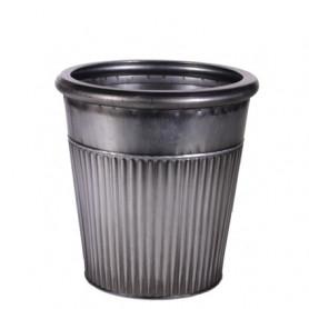 Pot zinc forme canelé Bartomeu