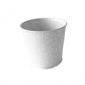 Pot rond zinc paillettes Sara