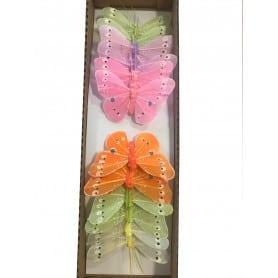 12 papillons à piquer Flare