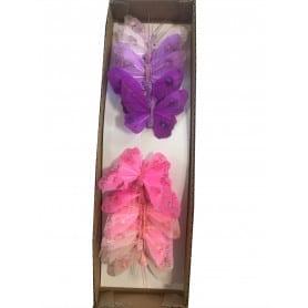 12 papillons à piquer Ectoire