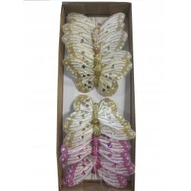 12 papillons à piquer Bourgey