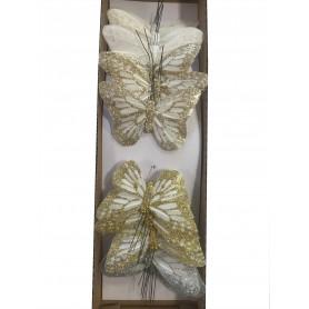 12 papillons à piquer...