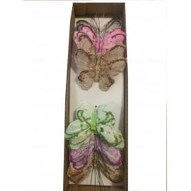 12 papillons à piquer Seizy