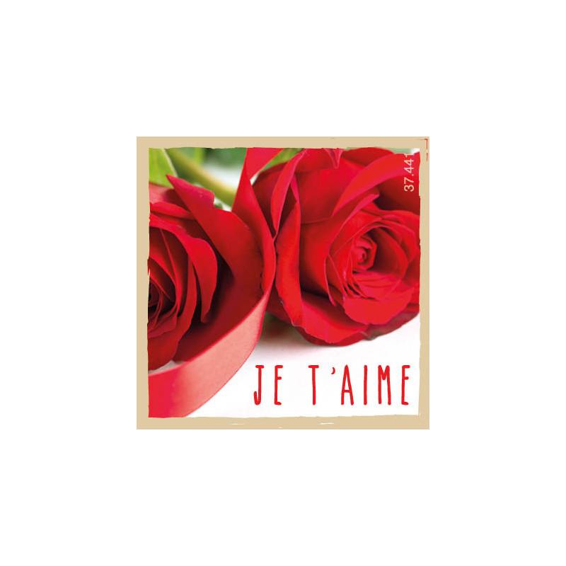 Étiquettes adhésives Je t'aime Sammy - Grossiste fleuriste St Valentin