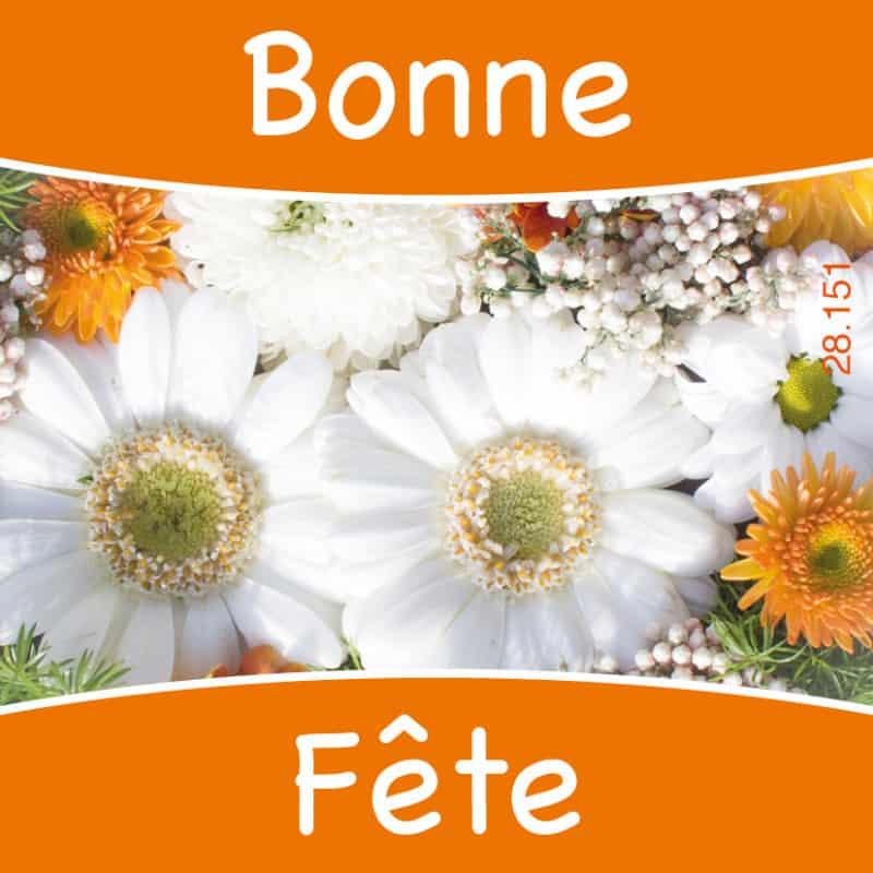 Étiquettes adhésives Bonne fête - Grossiste fleuriste décoration love
