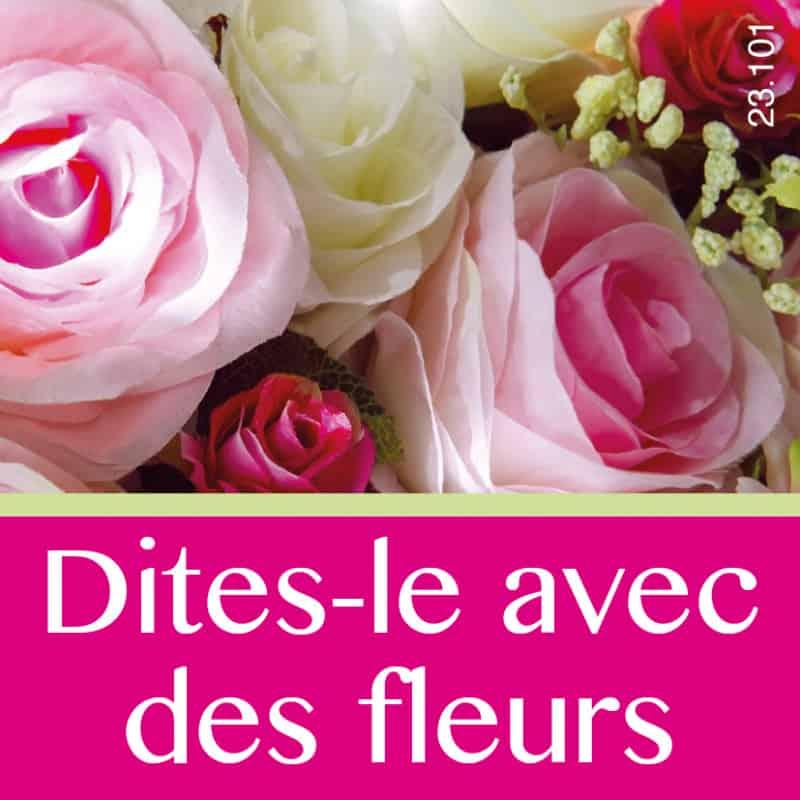 Étiquettes adhésives Dites-le avec des fleurs - Grossiste fleuriste déco