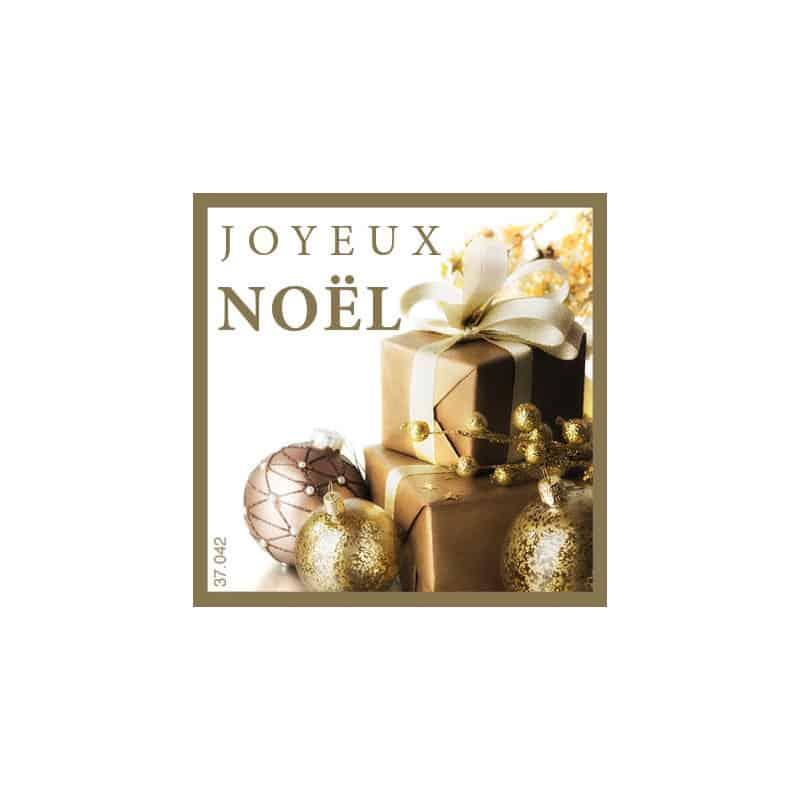 Étiquettes adhésives Joyeux Noël - Matériel pour fleuriste déco Noël