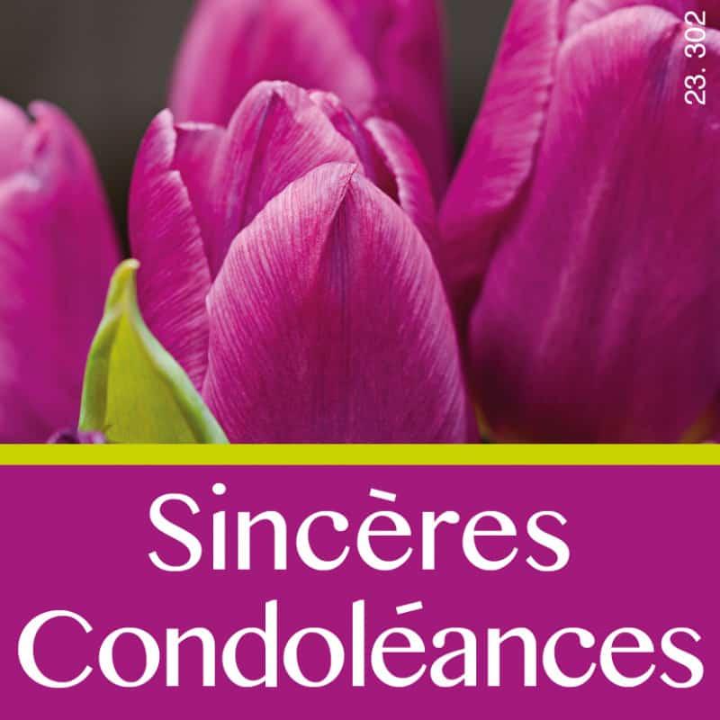 Étiquettes adhésives Sincères condoléances - Grossiste déco roses fleurs