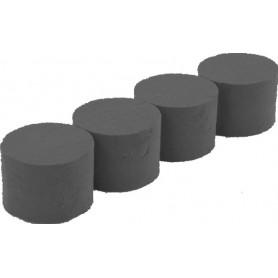 5 cylindres en mousse noire