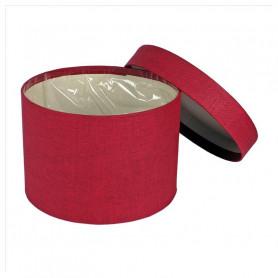 Boite à chapeau rouge tissus