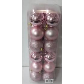 Boîte de 24 boules de Noël - Grossiste fleuriste décoration noel