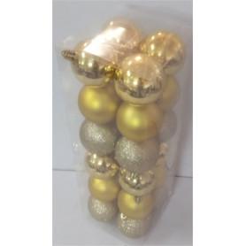 Boîte de 24 boules de Noël...