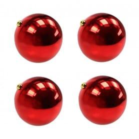 Boîte de 4 boules de Noël - Grossiste accessoires fleuriste décoration