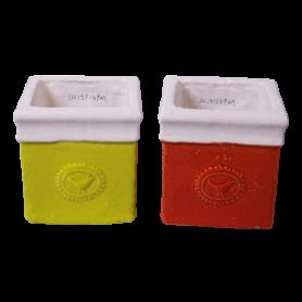 Pots carrés multicolores Hoza
