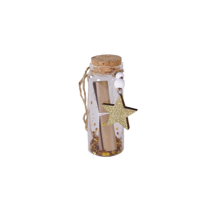 Flacon verre à message Hegre - décoration nöel