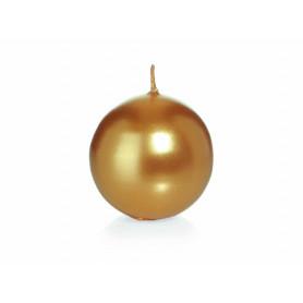 Bougie boule dorée D. 60mm