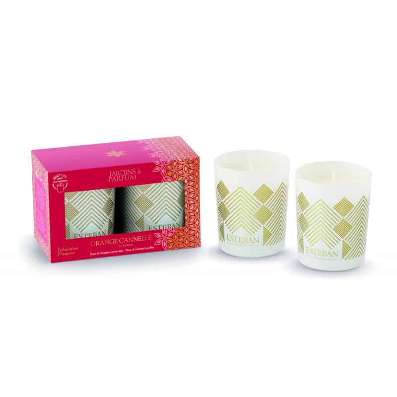 Duo de mini bougies « Noël» - cadeau de noël