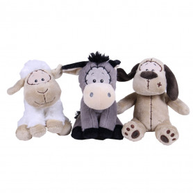 Mouton, âne, chien assortis