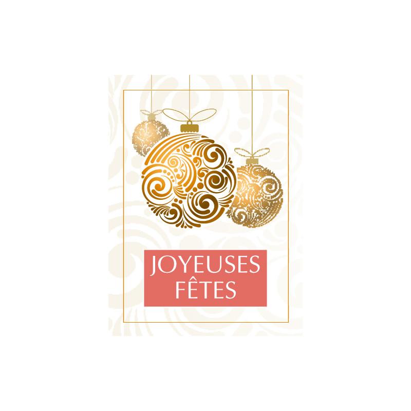 Étiquettes adhésives Joyeuses fêtes - Matériel pour fleuriste Noël