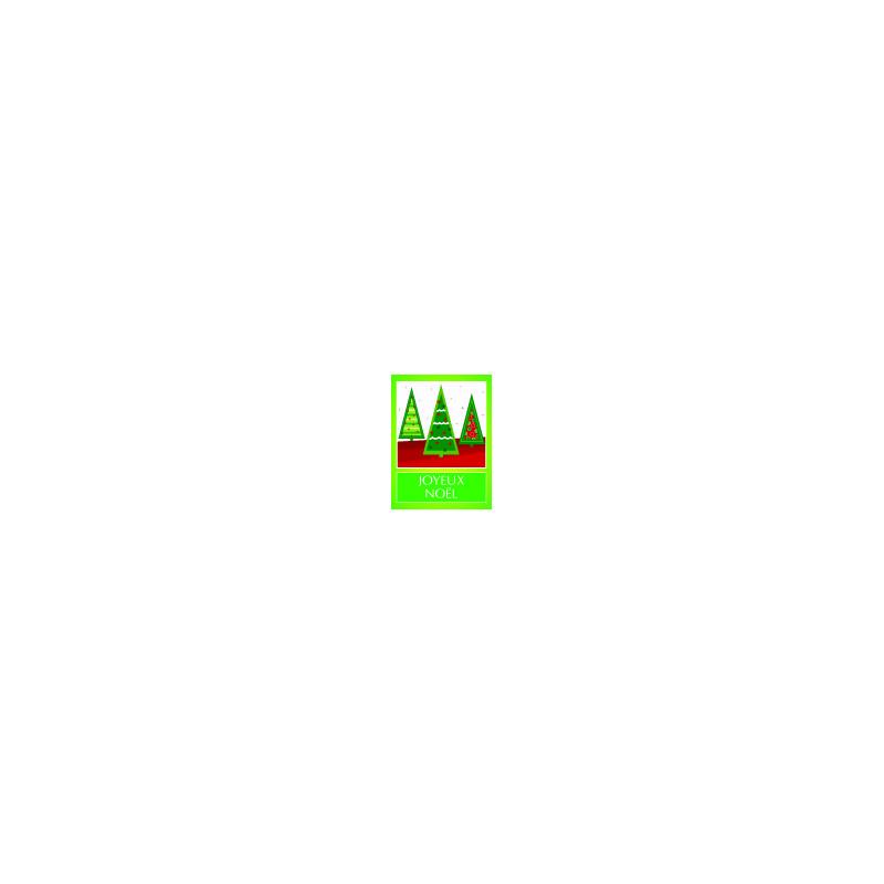 Étiquettes adhésives Joyeux Noël - Grossiste fleuriste déco de Noël