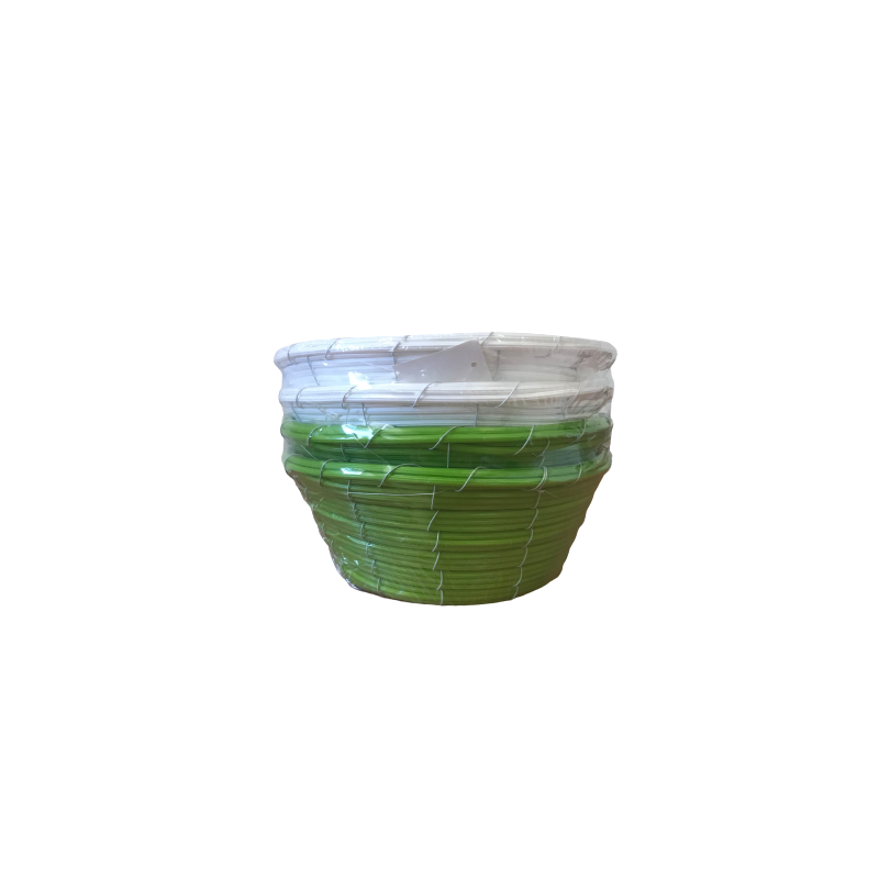 Coupe ronde vannerie en plastique - Grossiste pour fleuriste déco