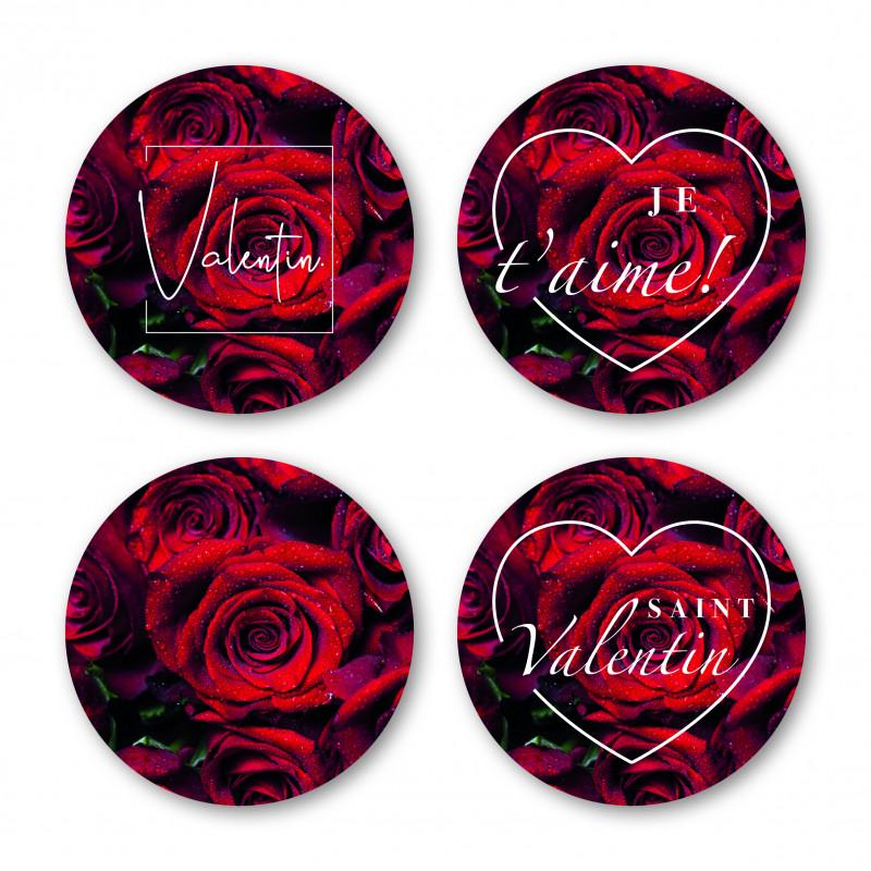Étiquettes adhésives St Valentin - Grossiste pour fleuriste décoration