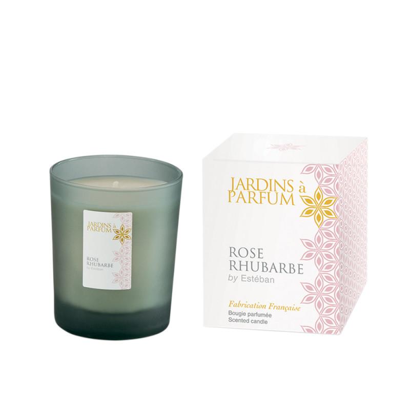 Bougie parfumée Rose Rhubarbe
