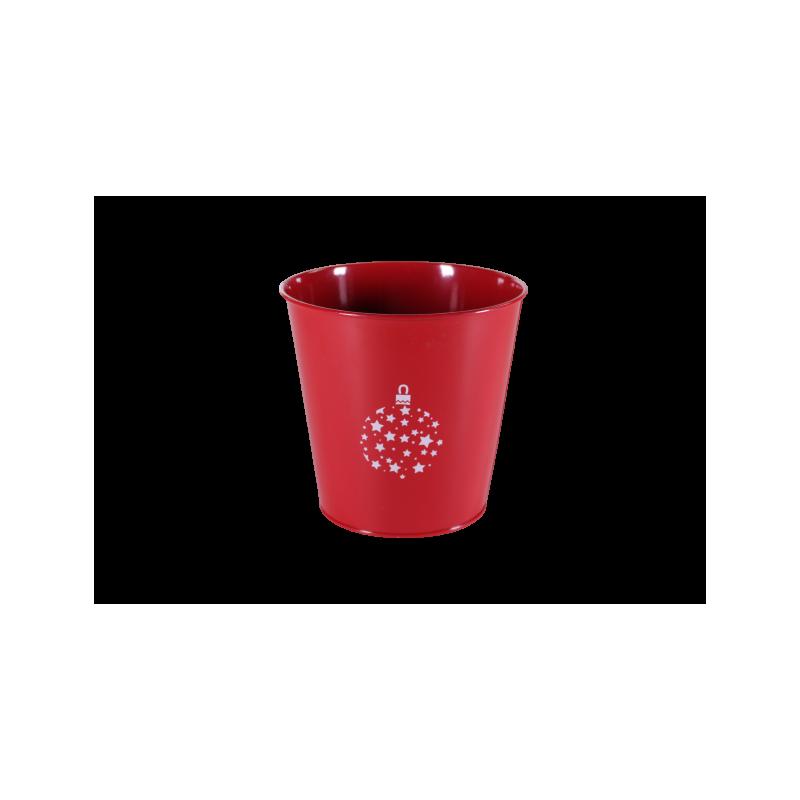 Pot rond zinc noël - Plusieurs couleurs