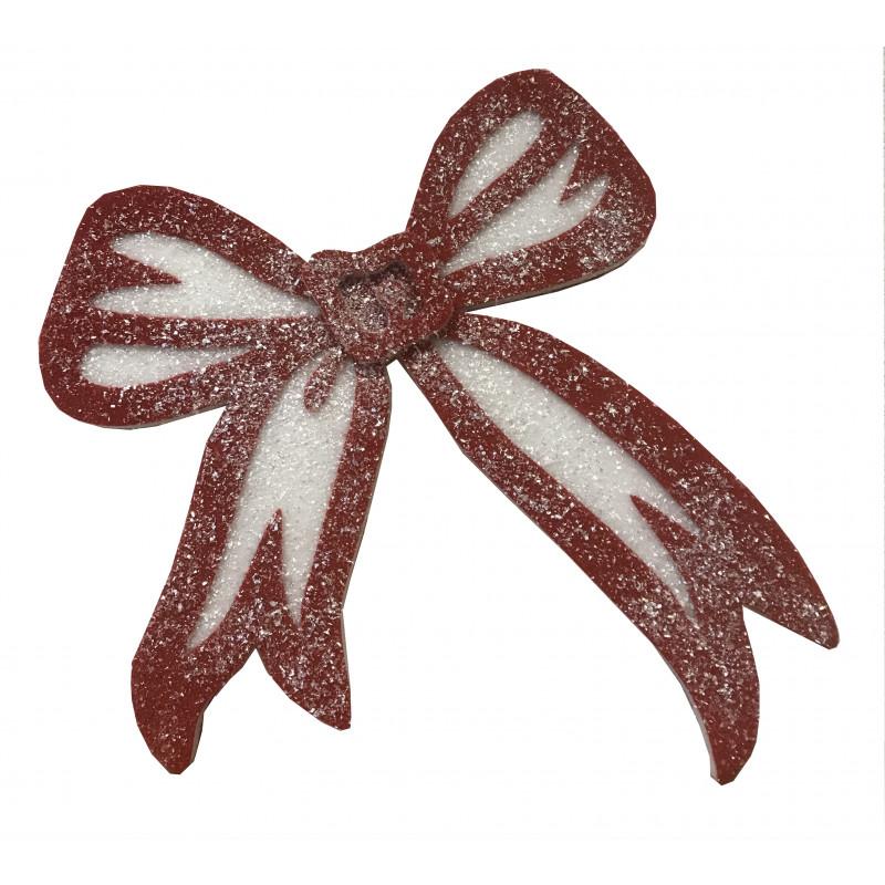 Suspension grand nœud en mousse - Grossiste décoration de Noël