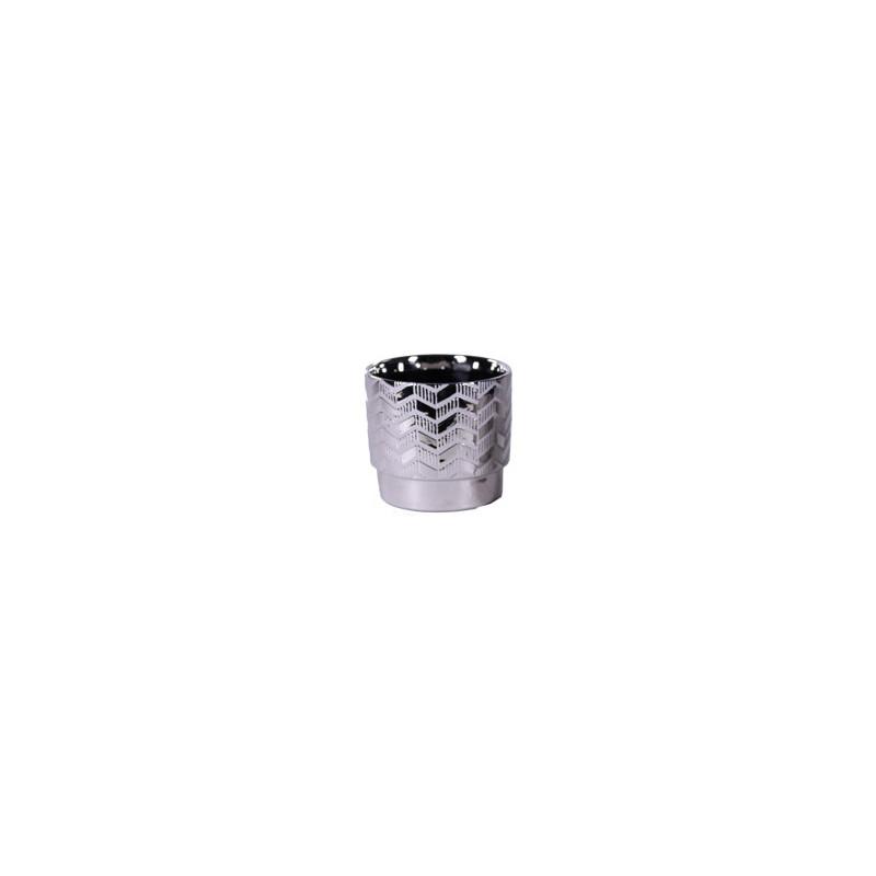 Cache-pot en céramique argenté - Matériel pour fleuriste déco de noel