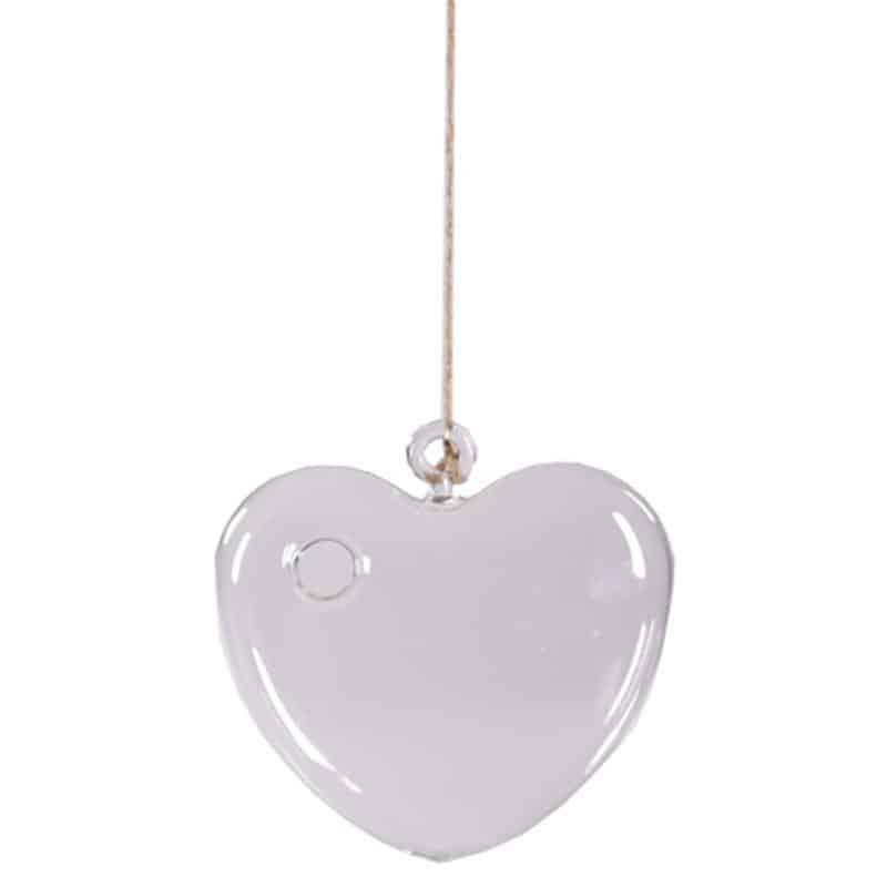 Suspension coeur en verre June - Plusieurs tailles - décoration Saint Valentin