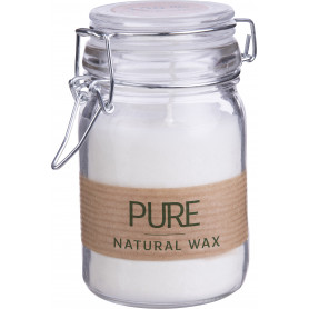 Bougie wax naturel en bocal...