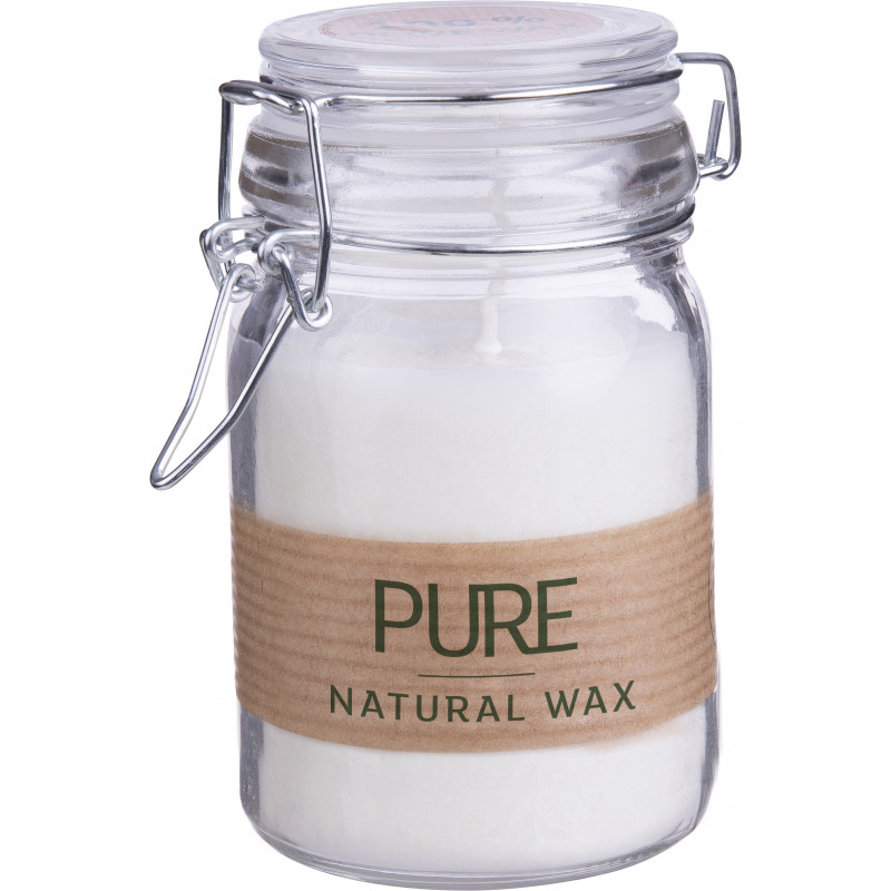 Bougie wax naturel en bocal Layla - Bougie naturelle